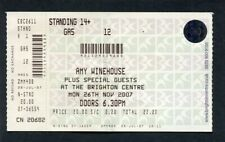 2007 Amy Winehouse Concert Ticket Brighton Centre UK Back To Black