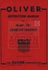 Oliver Dd Crawler Tractor Operators Amp Service Manual
