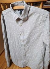 The GAP Shirt Casual - Grey with Floral Design - M - Size Medium