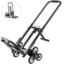Stair Climbing Cart Portable Folding Trolley 330lbs, Heavy Duty Stair Hand Truck