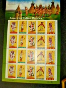 US SCOTT 3072 - 76 PANE OF 20 AMERICAN INDIAN DANCE 32 CENTS FACE MNH