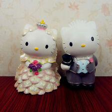 Hello Kitty & Dear Daniel Lover Resin Painting Coin Bank Money Box Wedding Gift
