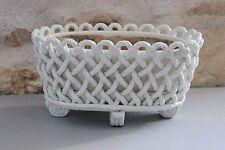 Ancien pot + cache pot ajouré en céramique espagnole - SPAIN