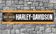 Harley Davidson PVC Vinyl Banner Flag Poster Sign 2450x610mm FREE Delivery