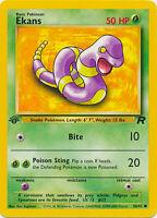 Ekans Common Pokemon Card 1st Edition Team Rocket 56/82