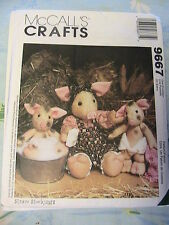 "PIGS~8"" + 14""~Straw Stockings *RARE & OOP cloth art doll pattern~McCall's 9667"