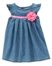 Gymboree NWT Fairy Tale Forest Blue Chambray Pink Flower Dress 18-24 Months $37