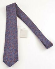 Paolo Albizzati NWT Neck Tie In Dark Red With Blue Flowers 100% Wool