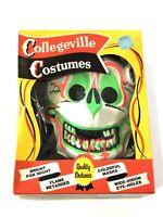Plastic Mask Halloween Collegeville Vtg Monster Box 1960s Old Skeleton Skull 💀