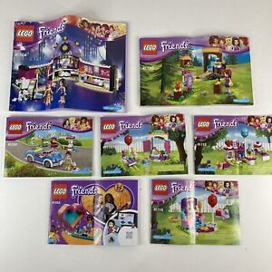 Lot of 8 Lego Friends Manuals Instruction Booklets