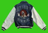 VINTAGE RARE AVIREX Choctaw Football Team Leather Varsity Bomber Jacket Size S