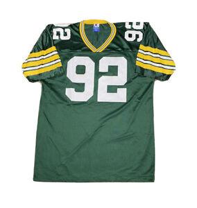 Vintage 1990s Champion NFL Green Bay Lackers Reggie White Away Jersey size L