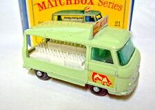 """Matchbox RW 21C Milk Float schwarze Räder mittleres 24iger Profil in """"D"""" Box"""