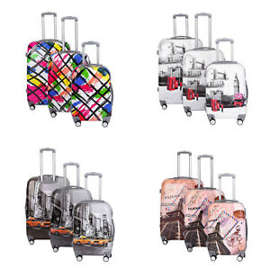 "Hard Shell Cabin Suitcase 4 Wheel Luggage Trolley Case Lightweight 20"" 24"" 28"""