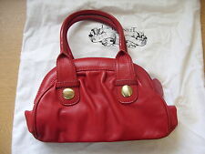"Ladies Handbag LK Bennett red real leather grab bag 11x11x5"" incl.handles 3142"