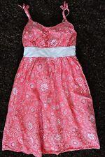 Childrens Place Girls 8 Pink White Print Sun Dress Sundress Spaghetti Straps