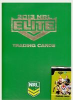 NEW NRL 2013 Elite Padded Album Plus Trading Cards Licensed Sealed  Free Post
