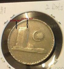 MALAYSIA  50 sen coin 1988  ERROR EXTRA 2 DOT  Parliament Series #1