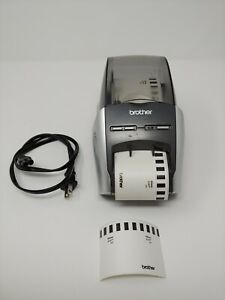 Brother QL-570 Thermal Label Printer w/ Power Cord & Label Roll Tested Working