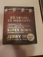 Vintage NFL JERRY RICE 50 Years 50 Moments Super Bowl History Auto Signed Book