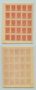 Russia RSFSR ☭ 1922 SC 237a MNH error - 70 instead 100, block of 25. g742