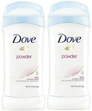 *Lot of 2* Dove Antiperspirant Deodorant Invisible Solid POWDER 2.6 Oz  EXP 2/22