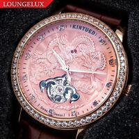 NEW Mens Flywheel Dragon Luxury Bling Skeleton Automatic Mechanical Wrist Watch