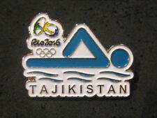 2016 RIO BRAZIL 31st Summer Olympic NOC TAJIKISTAN Swimming Team dated pin