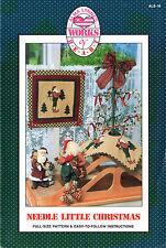 "Alma Lynne Designs Quilt Sew Applique Pattern ALS-16 ""Needle Little Christmas"""