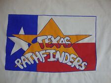 Vintage Texas Pathfinder Government Club White Men's T Shirt XL