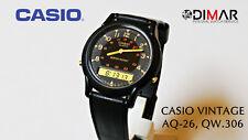 CASIO VINTAGE AQ-26 QW.306, DUAL TIME, YEAR 1988