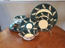 Wedgwood turquoise and gold bone china FIFTY-FIVE pieces S402 great starter set