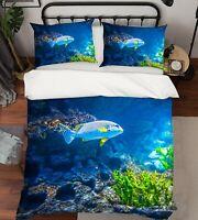 3D Fish Stone ZHUA2118 Bed Pillowcases Quilt Duvet Cover Set Queen King Zoe