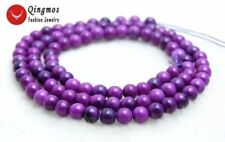 4mm Round Purple Natural Sugilite Beads for Jewelry Making Loose Strand 15''-763