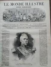 LE MONDE ILLUSTRE 1871 N 727  LE GENERAL LOUIS D'AURELLE DE PALADINES .