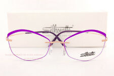 New Silhouette Eyeglass Frames TMA Icon Accent Rings 5518 FW 3530 Gold/Amethyst