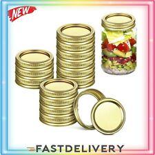 48PCS Regular Mouth Canning Jar Lids And Rings Set Mason Jars Leak Proof LIDS