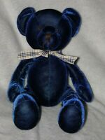 RUSS PICASSO BLUE BEAR SOFT TOY TEDDY COMFORTER DOUDOU