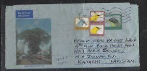SIERRA LEONE COVER (P1604B) 1997 300 LE BIRD AEROGRAM +80LE+10 LEX2 TO PAKISTAN