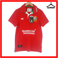 British Lions Canterbury Rugby Polo Shirt S Small Red Jersey Top Since 1888