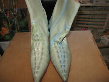 Womens size 6  E Genuine Aligator ankle boots 3 in heel