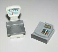 Playmobil Accessoire Lot Equipement Commerce Balance + Caisse Enregistreuse NEW