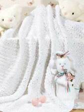 """KNITTING PATTERN - EASY KNIT CHAIN LINK PATTERNED BABY BLANKET/SHAWL 38"""" X 38"""""""