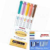 Zebra Mildliner Color 5 Warm Colours Double-Sided Highlighter Marker WKT7-5C-RC