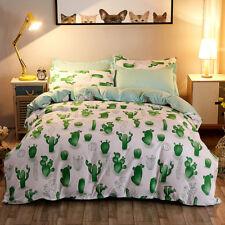 Cactus Green Bedding Duvet Cover Set Quilt Cover Queen Size
