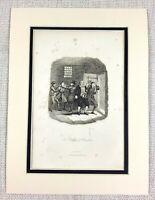 1885 Antik Aufdruck The Friseur Von Beaulieu George Cruikshank Viktorianisch Art