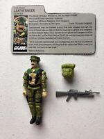 GI Joe 1986 Leatherneck v1 Marine Hasbro Action Figure Complete with File Card
