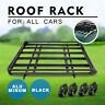 Universal Steel Roof Rack Powder Coated Basket Mesh Luggage Carrier 1.60m BLACK
