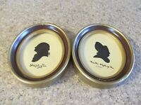 Antique George and Martha Washington Silhouette - SET OF 2 - WEDGFIELD PICTURES