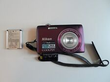 Nikon COOLPIX S4100 14.0MP Digital Camera and battery only- Plum (26261)